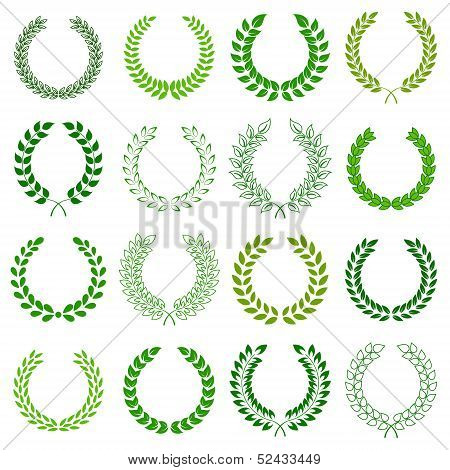 vector collection of laurel wreaths