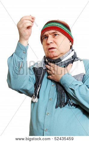 A Man With A Medicine Dropper.