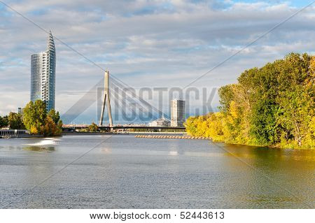 Cable Stayed Bridge Across Daugava
