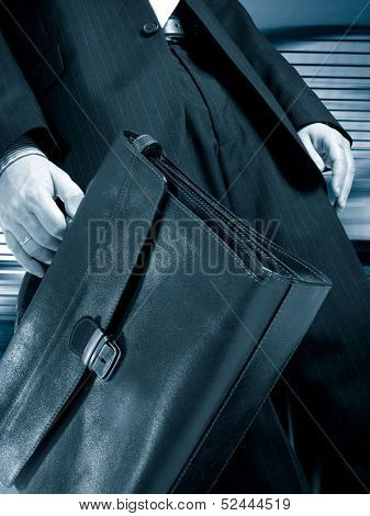 businessman in blue color