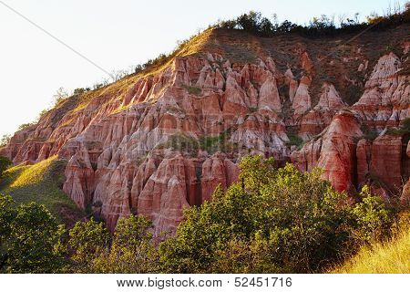 Red Ravine From The Carpathian Mountains