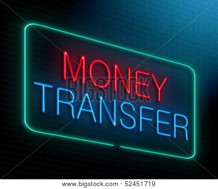 Money Transfer Concept.