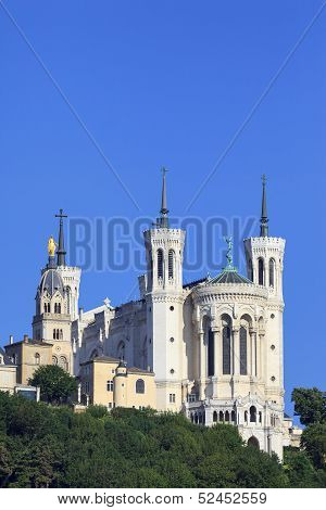 Vertical View Of Basilica Of Notre Dame De Fourviere