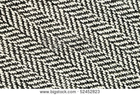 Closeup Of Tweed Fabric