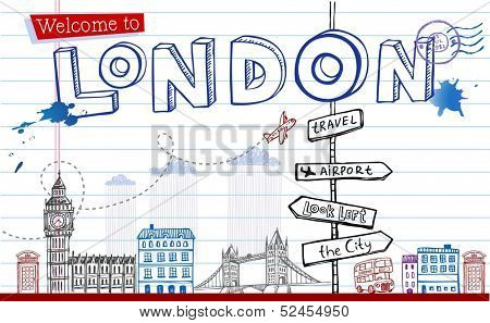 Welcome to London - greeting card