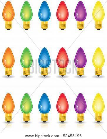 Individual Colored Christmas Lights