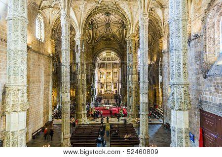 Church Santa Maria In Belem, Lisbon, Portugal