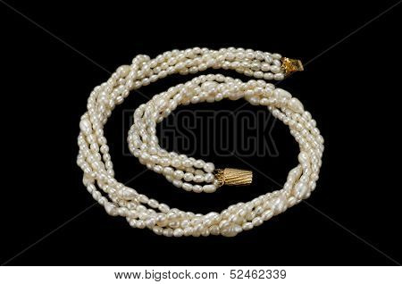 Twisted White Freshwater Pearl Necklace