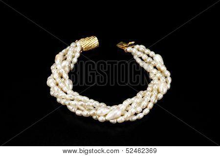 Twisted White Freshwater Pearl Bracelet