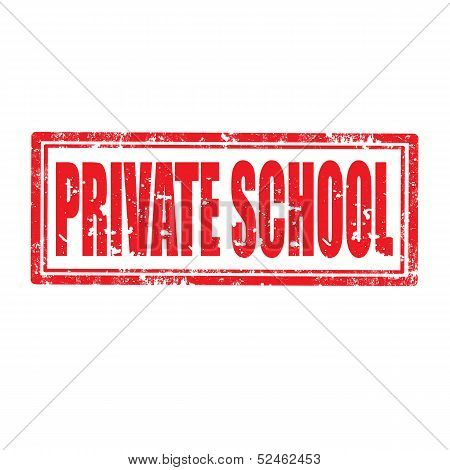 Private School-stamp