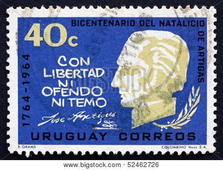 Postage Stamp Uruguay 1965 Artigas, General And Patriot