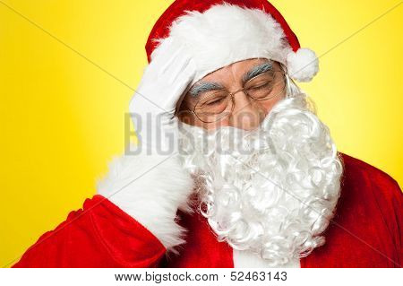 Santa Having Severe Headache