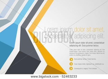 Colorful template for advertising brochure
