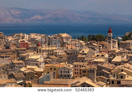 View Of The Corfu Town. Kerkyra, Photo Taken In Greece