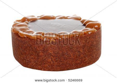 Closeup Chocolate Toffee Cake