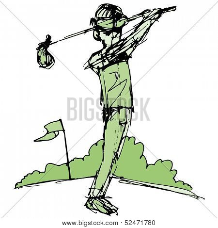 An image of a golf player.