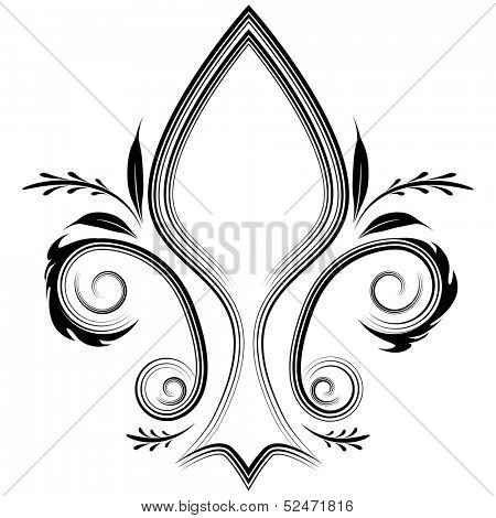An image of a fleur de lis design element.