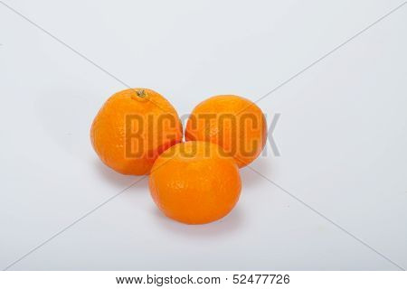 Close up of resh mandarin isolated on white