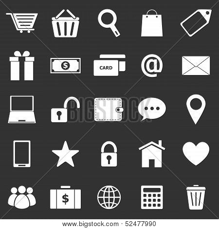 Ecommerce Icons On Black Background