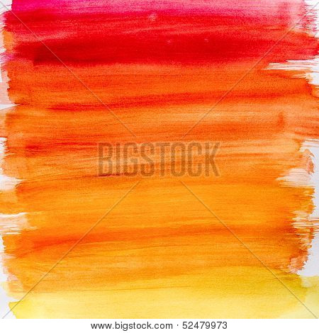 Gradient Watercolor Background In Warm Colors