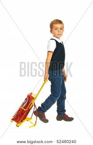 Schoolboy Going To School