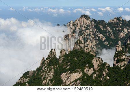 Mt. Huangshan And Cloudscape
