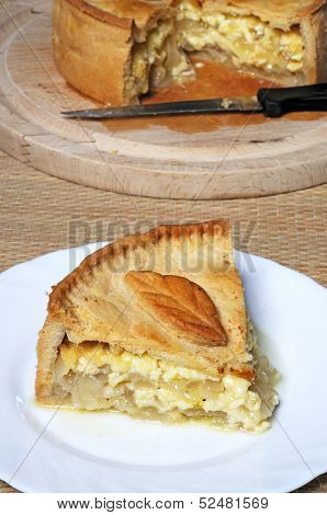 Cheese and onion pie.
