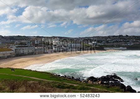 Porthmeor beach St Ives Cornwall England UK