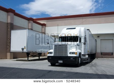 Truck At Loading Bay
