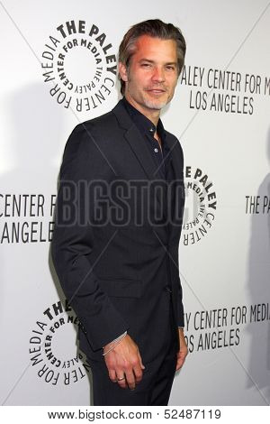 LOS ANGELES - OCT 16:  Timothy Olyphant at the 2013 Paley Center For Media Benefit Gala at 21st Century Fox Studios Lot on October 16, 2013 in Century City, CA