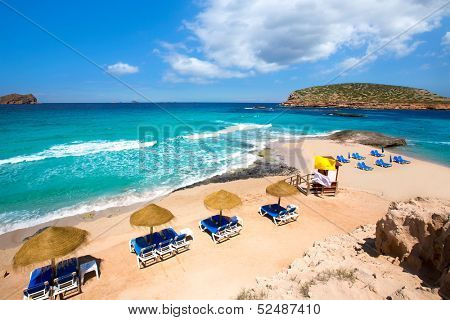 Ibiza Cala Conta Comte beach in San Jose at Balearic Islands Spain