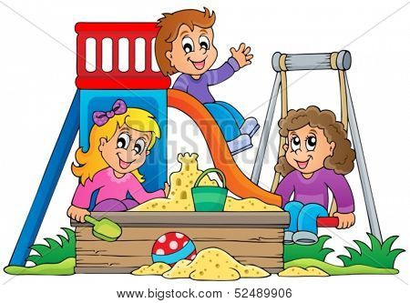 Image with playground theme 1 - eps10 vector illustration.