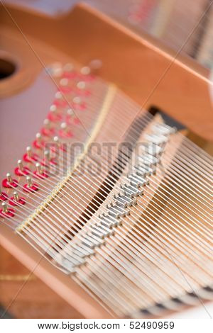 Close up of piano chords. Concept of music and creative hobby