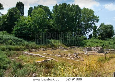 Greece. The ruins of the ancient city of Dion.