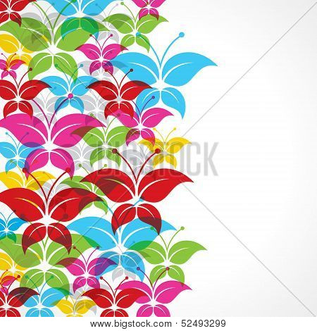 Colorful butterfly background stock vector