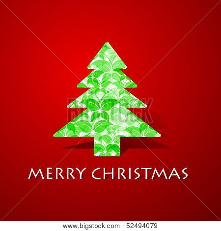 Green butterflies make a christmas tree stock vector