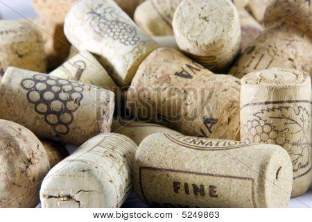 Wine Corks Close-up