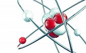 image of proton  - 3d atom or molecule modern design isolated over white background - JPG