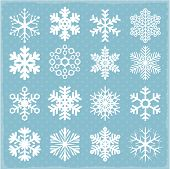 picture of cold-weather  - Vector snowflakes - JPG