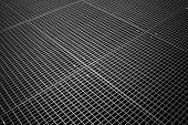 stock photo of tile cladding  - Background texture of tiled metal ground grid - JPG