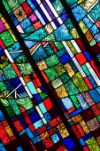 picture of stained glass  - Stained glass windows shot at an angle - JPG