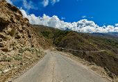 pic of himachal  - Road in Himalayas - JPG