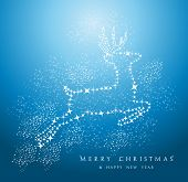 Merry Christmas Reindeer Background Eps10 Vector File.