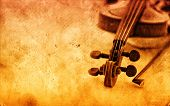 stock photo of violin  - Classic violin on grunge paper texture - JPG