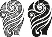 Maori styled tattoo pattern fits for a shoulder or an ankle. Editable vector illustration.