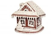pic of gingerbread house  - Gingerbread House on white background  - JPG