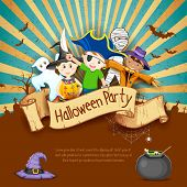 foto of scythe  - illustration of Kids in different costume for Halloween Party - JPG