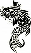 foto of koi tattoo  - Vector image of an carp koi  - JPG