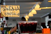 image of sangria  - trendy bar with fresh sangria on offer for all customers