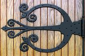 Ornate Wrought Iron Doorhinge